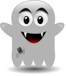 ghost,cellephone,fantome,media,clip art,public domain,image,svg