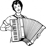 woman,playing,accordeon,people,music,musical instrument,accordion,drawing,line art,black and white,contour,coloring book,outline,musical instrument,wikimedia common,psf,musical instrument,wikimedia common