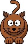 cartoon,colour,animal,mammal,cat,funny,brown