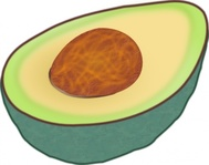 avocado,food,fruit,media,clip art,public domain,image,svg