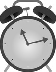 alarm,clock,time,household,grayscale,no contour,media,clip art,externalsource,public domain,image,png,svg