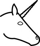 unicorn,head,profile,line art,outline,animal