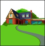 casa,campagna,building,house,home,villa,landscape,countryside,media,clip art,public domain,image,png,svg