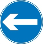 road,sign,roadsign,attention,turn,left,arrow