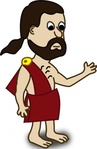 comic,character,toga,funny,people,cartoon,human,guy,media,clip art,public domain,image,png,svg
