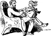 father,daughter,playing,people,man,child,girl,play,chair,media,clip art,externalsource,public domain,image,png,svg
