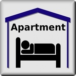 apartment,symbol,pictogram,bed and breakfast,boarding,house,wohnen auf zeit,serviced apartment,media,clip art,public domain,image,svg