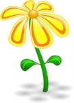 yellow,flower,colour,green,red,plant,media,clip art,public domain,image,png,svg