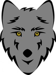 simple,stylized,wolf,head