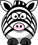 studiofibonacci,cartoon,zebra,remix,animal,africa,mammal,clip art,media,public domain,image,png,svg