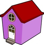bigredsmile,little,purple,house,media,clip art,public domain,image,png,svg,cartoon,contour,cute,building,home