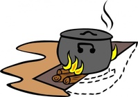 campfire,cooking,cran,camping,fire,camp,cook,pot,boil,crane,scouting,colouring book,council,star,hunter,reflector,log,trench,teepee,media,clip art,public domain,image,png,svg,hunter,hunter,bushcraft