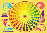 abstract,background,butterfly,circle,colorful,colour,decoration,decorative,element,floral,girl,heart,insect,man,people,rainbow,silhouette,sunburst,swirl