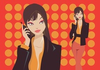 cartoon,girl,lady,office,on,phone,talking,business,woman,cartoon,cartoon