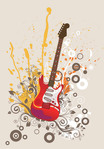 abstract,artwork,background,electric,floral,guitar,illustration,pain,painting