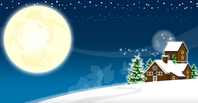 background,celebration,christmas,cold,december,environment,home,landscape,merry,moon,new,night,season,sky,snow,tree,vector,village,xmas,year