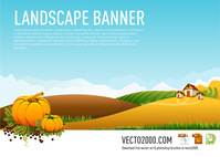 autumn,background,banner,basket,branch,cloud,color,farm,food,freshness,fruit,grass,holiday,horizontal,house,illustration,landscape,leaf,nature,plant,pumpkin,rural,season,sky,tree,vegetable