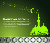 arabic,background,card,green,greeting,mosque,star