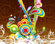 abstract,background,colorful,colourful,floral,rainbow color