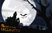 bat,crow,full moon,halloween,haunted,jack o lantern,pumpkin,scary,tree,mansion,raven,moon,enchanted,house,grave,terror,horror,scenery