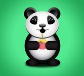 animal,cake,cute,funny,panda,party,candle,cupcake,birthday party,panda bear