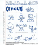 allonzo,inc,alfred,circus,carnival,doodle,cartoon,comic,hand drawn,fun