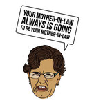 mother in law,t shirt,face,woman,mother,person