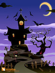 halloween,house,bat,scary,tree,haunted,october,night,horror,scene,spooky