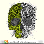 skull,t-shirt design,tee design,skull,t-shirt,design,tee,shirt,tshirt,element,abstract,green,gray,pattern,skull,design,element,pattern