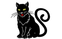 cat,animal,black,pet,black cat,yellow eye,animals,backgrounds & banners,buildings,celebrations & holidays,christmas,decorative & floral,design elements,fantasy,food,grunge & splatters,heraldry,free vector,icons,map,misc,mixed,music,nature