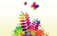 background,butterfly,colorful,flower,landscape,spring