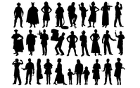 silhouette,human,people,shadow