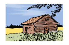 media,clipart,exteranlsorce,public domain,image,png,svg,cabin,cottage,barn,autumn,remix