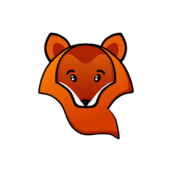 fox,orange,yellow,cartoon,head,color,transparent,animal,wild