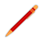 pen,red,ball,point,ink,school. collage,student,write,book,pen,svg,png