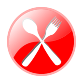 icon,restaurant,food,fork,spoon,red,glossy