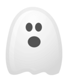 white ghost halloween
