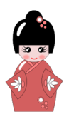 japanese,doll,cartoon,girl,kokeshi
