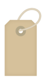 a simple tag or label with rope.,a simple tag or label with rope.