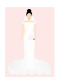 marriage,wedding,gown,white,pure,young,black hair,veil,bride,bouquet,ceremony,woman,bridal
