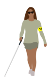 blind,woman,people,illness,disease,health,blindman's stick,white cane,cane,stick,independence