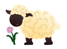 sheep,animal,cartoon,mammal,cute,flower,farm,ewe