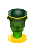 pillar,green,orange,mug,cup,gold,yellow,exotic,shiny,rough,trophy,face,mask,tribal