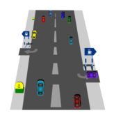 road,illustration,highway,car,distance,km,turn,traffic,rule,speed,mileage,hotel,vehicle,two way