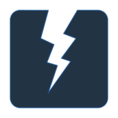 power,lightening,electricity,dark blue,night,rounded square
