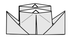 origami,paper,lineart,line-art,diagram,ship,boat