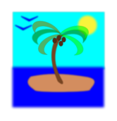 lonely,island,isla,illa,palmera,palm tree,coconut,fruit
