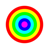 rainbow,circle,target,6,color