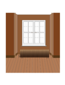 window,fenêtres,radiator,radiateur,brown,marron,plancher,floor,cloison,wall,living-room,salon,media,clip art,public domain,image,png,svg,window