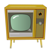 vintage,tv,television,technology,entertainment,console,yellow,blue,green,dial,vintage,tv,clipart,inkscape,svg